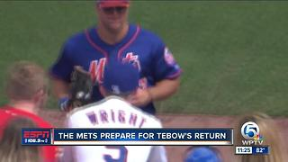 Mets Prepare For Tebow's Arrival - Video