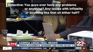 Trial starts for Sabrina Limon for the murder of her husband Robert Limon