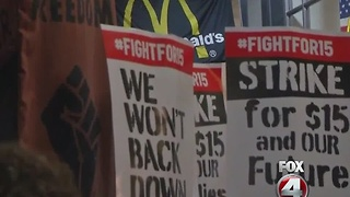 Fight for $15 wage - Video