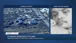 Suspect — nicknamed 'Psycho' — wanted after remains of 3 people found in Conejos County