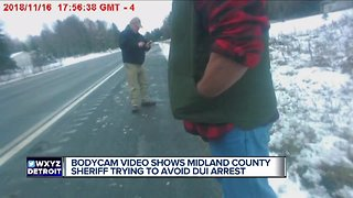 Bodycam video shows Michigan sheriff trying to avoid DUI arrest