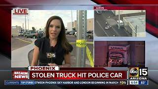 Woman critical after being hit by burglary suspect in stolen Uhaul truck
