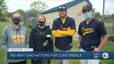 No Way! Three no-hitters for Clintondale