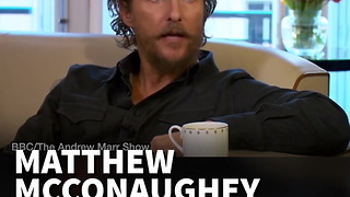 Matthew McConaughey Tells Celebs To Get Over It - Video