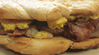 Giant Breakfast Sandwich - Video