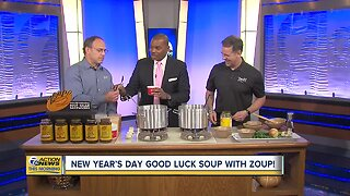Warming up with a New Year's Good Luck Soup from Zoup!