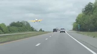 Airplane makes emergency landing on highway!