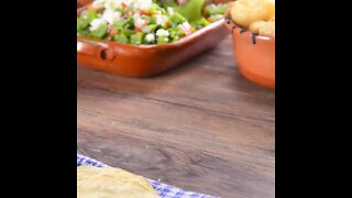Toasts with Nopales Salad