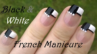 Black & white separated: French manicure tutorial