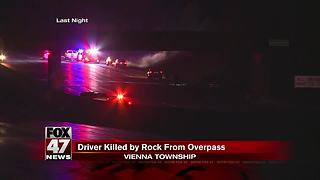 Passenger killed after rock is thrown from I-75 overpass - Video