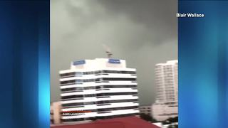 VIDEO: Possible tornado spotted over downtown Fort Lauderdale - Video
