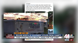 $30,000 worth of equipment stolen from charity