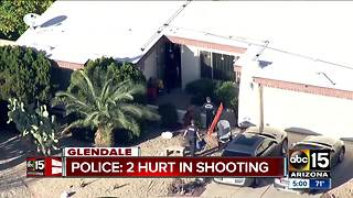 Two people shot at Glendale home - Video
