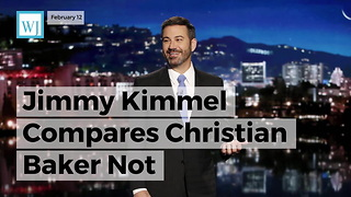 Jimmy Kimmel Compares Christian Baker Not Participating In Same-sex Wedding To Anti-semitism - Video