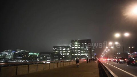 Where did the Shard go? London's tallest building 'disappears' in heavy fog