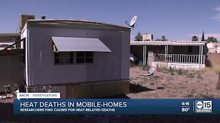 Researchers find causes for heat-related deaths in mobile-homes