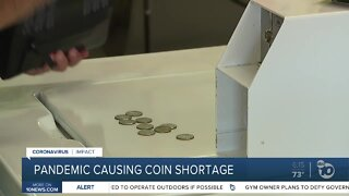 Pandemic causing coin shortage