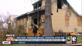 Man dead, grandmother critically injured in house fire