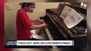 Delivery Guy Shows Off Brilliant Piano Skills At Sterling Heights Home - Video