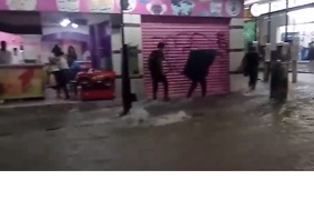 Floodwaters Rush Down Chiapas Capital Streets - Video