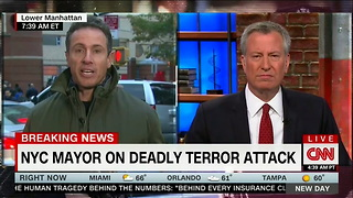 Bill de Blasio Warns 'Anyone' From Politicizing NYC Terror Attack - Video