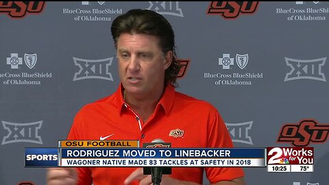 Mike Gundy won't name starting QB for opener against Oregon State; Malcolm Rodriguez moves from Safety to Linebacker