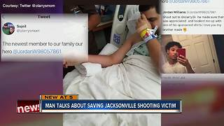 Man talks about saving Jacksonville shooting victim