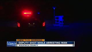 Wisconsin deputy shot while arresting man - Video