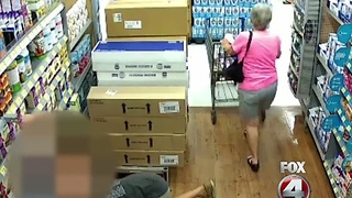 Man roams Florida Walmart, looking up women's skirts - Video