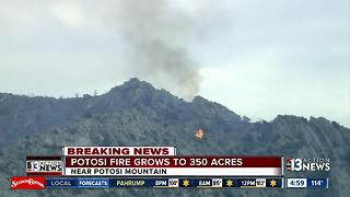 Fire on Potosi Mountain growing - Video