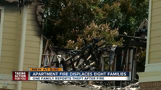Families left homeless after large fire at Hillsborough County apartment complex - Video