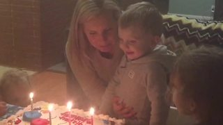 """Adorable Toddler Licks The Birthday Candle"""