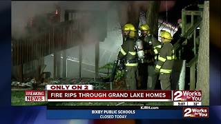 Fire rips through homes at Grand Lake