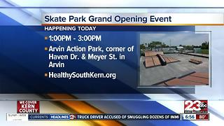 Arvin skate park opens thanks to young leaders - Video