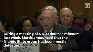 Mattis Says 95 Percent of ISIS Destroyed - Video