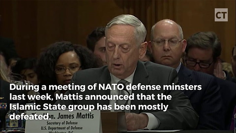 Mattis Says 95 Percent of ISIS Destroyed