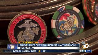 Thieves make off with priceless Navy heirlooms - Video