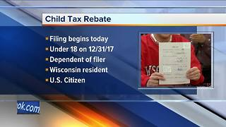 Wisconsin taxpayers can apply for child tax rebate Tuesday - Video
