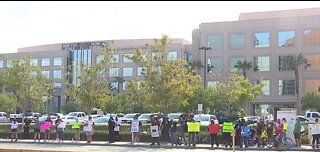 Protest held in front of Las Vegas police headquarters