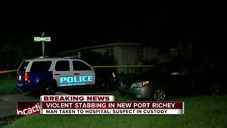 Man stabbed during home invasion in New Port Richey - Video