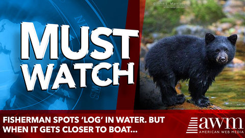 Fisherman Spots 'Log' in Water. But When It Gets Closer to Boat...