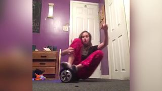 """Epic Fail: Hoverboard VS Girl"""