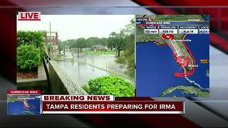 Tampa residents preparing for Irma - Video
