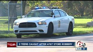 Teens caught after AT&T store robbery - Video