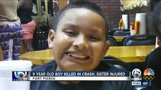 9-year-old Fort Pierce boy killed in Christmas-morning crash on his birthday - Video