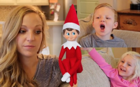 Mom asks kids questions about Elf on the Shelf