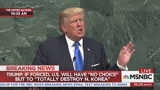 Trump in Address to U.N. Time to Expose the Loser Terrorists - Video