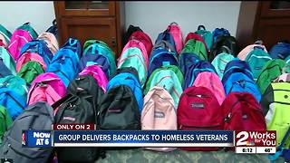 More than 100 backpacks donated to homeless veterans