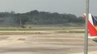 Flights Delayed After Fighter Jet Skids Off Runway at Singapore Airport - Video