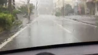 Typhoon Maria Leads to Slippery Driving Conditions in Japan's Miyako Islands - Video